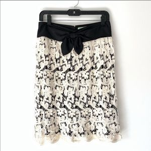 Anthropologie Lil Ivory Lace Skirt size 8